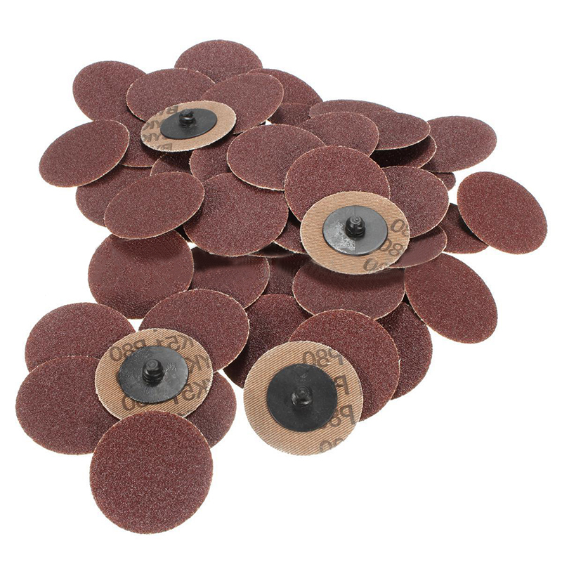 [해외]50pcs 롤 잠금 표면 샌딩 디스크 2 & 50mm Roloc 연 삭 연마 도구 세트 80 Grits/50pcs Roll Lock Surface Sanding Discs 2& 50mm Roloc Grinding Abrasive Tools Set 80 G