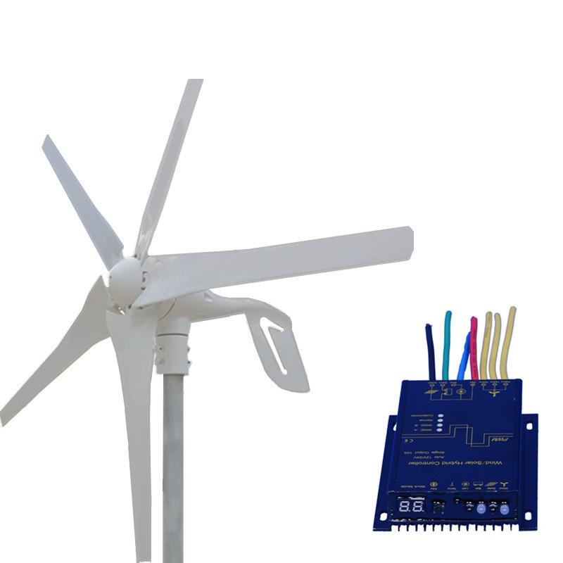 [해외]400W 풍력 발전기 12V 24V 5 블레이드 최대 전력 600W 소형 풍력 터빈 방수 MPPT 바람 솔라 하이브리드 컨트롤러/400W Wind Generator 12V 24V 5 Blades Max Power 600W Small Wind TurbineWate