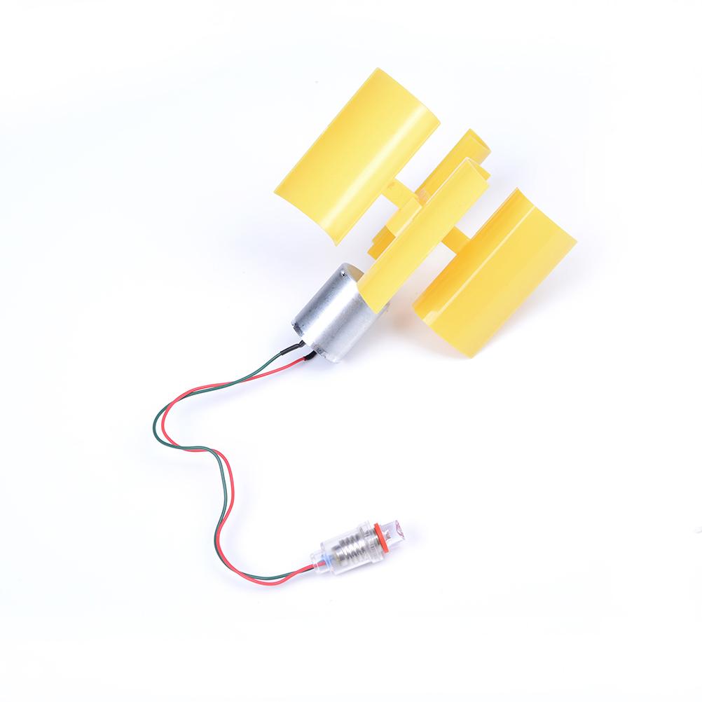 [해외]1pc 3-5V 소형 모터 수직 마이크로 옐로우 풍력 터빈 블레이드 발전기 키트 대체 에너지 발전기 액세서리/1pc 3-5V Small Motor Vertical Micro yellow Wind Turbines Blades Power Generator Kit A