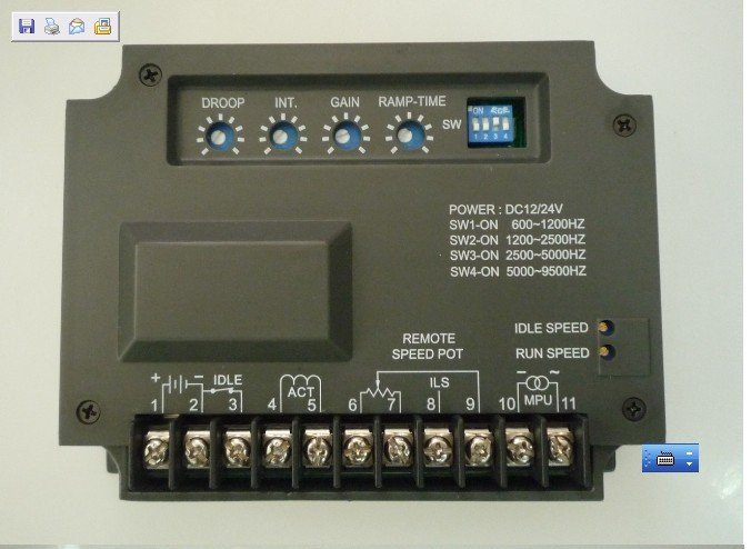 [해외]새로운 EG2000 전자 엔진 속도 거버너 보드 생성기 컨트롤러 패널 트랙 번호 12002867/New EG2000 Electronic Engine Speed Governor Controller Board Generator Controller Panel Trac