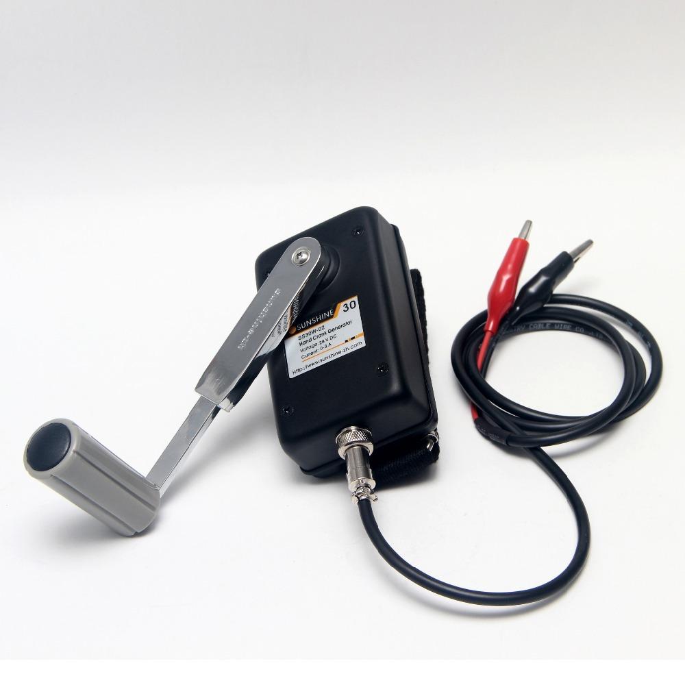 [해외]손 크랭크 발전기 작은 디나모 긴급 전화 충전기 MilitaryDC-DC 전압 변환기 28V 30W/Hand Crank Generator Small Dynamo Emergency Phone Charger MilitaryDC-DC Voltage Converter
