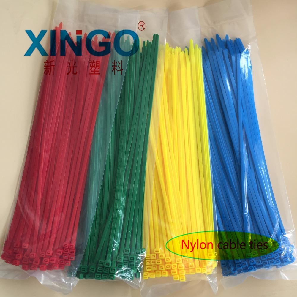 [해외]100pcs / bag 5x250 5 * 250 4.8mm 너비 셀프 락 그린 레드 블루 옐로우 나일론 와이어 케이블 우편 번호 타이 케이 블 타이/100Pcs/bag 5x250 5*250 4.8mm Width Self-Locking  Green Red Blue
