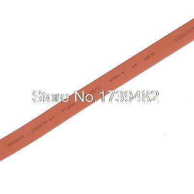 [해외]7mm Dia. 열 수축 관 수축 배관 6M 19.7ft 적색/7mm Dia. Heat Shrinkable Tube Shrink Tubing 6M 19.7ft Red