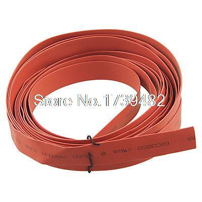 [해외]4m 13.1ft 9mm 직경. 열 수축 튜브 수축/4m 13.1ft 9mm Dia. Heat Shrinkable Tube Shrink Red