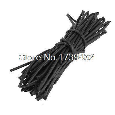 [해외]검은 열 수축 관 수축 관 3mm 직경 10M 33ft 125C/Black Heat Shrinkable Tubing Shrink Tube 3mm Diameter 10M 33ft 125C