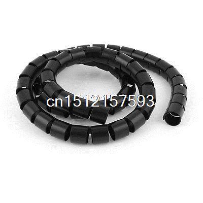 [해외]유연한 스파이럴 튜브 케이블 와이어 랩 컴퓨터 코드 관리 1M 3Ft 검정/Flexible Spiral Tube Cable Wire Wrap Computer Cord Management 1M 3Ft Black