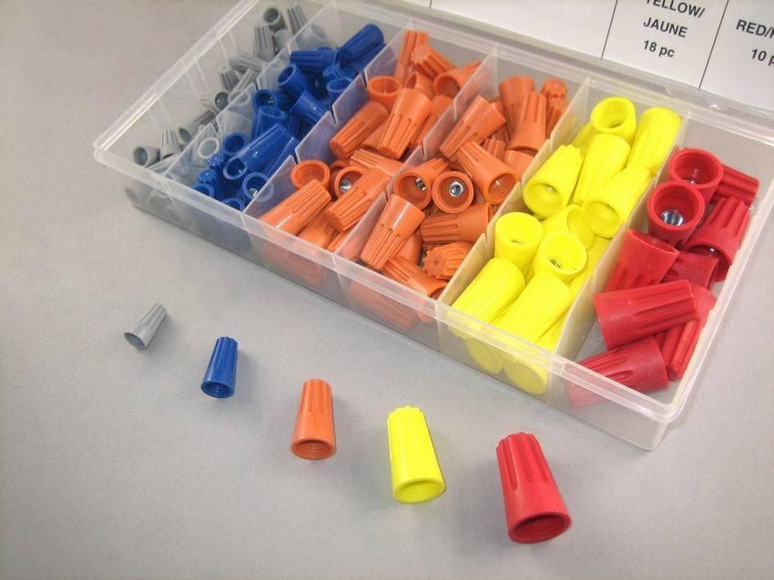 [해외]158 PC 단자 캡 보빈 회전 나선형 와이어 캡 어소트먼트 / 키트 / 세트/158 Pcs Terminal Caps Bobbin Rotating Spiral wire caps Assortment/Kit/Set