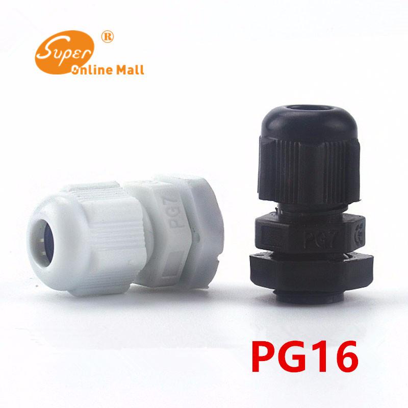 [해외]100pcs / lot 화이트 / 블랙 PG16 나일론 케이블 글 랜드 배선 액세서리 LED 케이블 커넥터 방수/100pcs/lot White/Black PG16 Nylon cable gland Wiring Accessories LED cable connecto