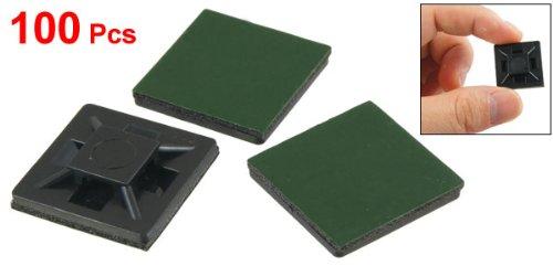 [해외]100 PC 20mm x 20mm x 4mm 셀프 접착 케이블 타이 마운트베이스 홀더 녹색/100 Pcs 20mm x 20mm x 4mm Self Adhesive Cable Tie Mount Base Holders Green