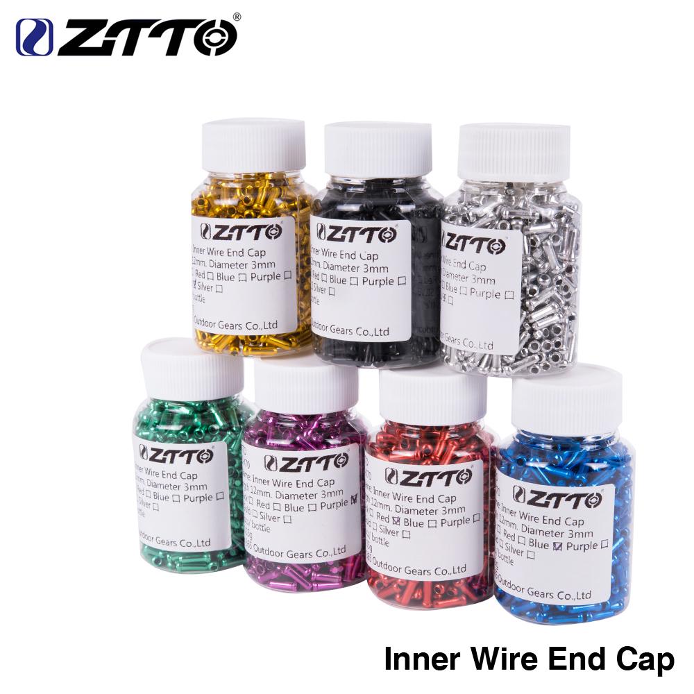 [해외]ZTTO 500pcs 내부 와이어 엔드 캡 브레이크 시프터 케이블 팁 와이어 알루미늄 합금 캡 브레이크 시프트 변속기에 적합 함/ZTTO 500pcs Inner Wire End Caps Brake Shifter Cable Tips Wire Aluminum all