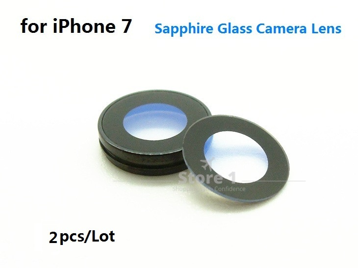 [해외]Apple iPhone 7 사진기 렌즈를2pcs / Lot 많은; 아이폰 7 4.7 용 사파이어 크리스탈 싱글 유리 / 프레임 없음/2pcs/Lot Original for Apple iPhone 7 Camera Lens; Sapphire Crystal Singl