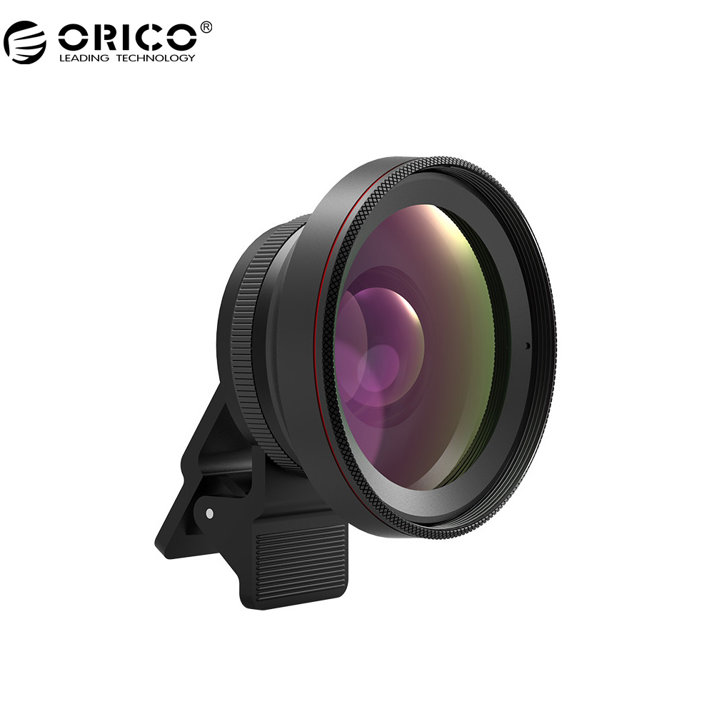 [해외]ORICO MPC-A2 범용 휴대 전화 렌즈 2 in 1 와이드 앵글 + 매크로 슈퍼 와이드 앵글 렌즈 59MM 와이드 앵글 구경/ORICO MPC-A2 Universal Mobile Phone Lens 2 in 1 Wide Angle + Macro Super