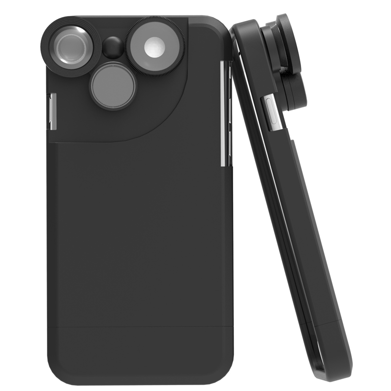 [해외]iPhone 7 7 Plus 4 In 1 광각 피쉬 아이 매크로 망원 360도 회전 전화 카메라 렌즈 키트 휴대 전화 케이스 커버/For iPhone 7 7 Plus 4 In 1 Wide Angle Fish Eye Macro Telephoto 360 Degree