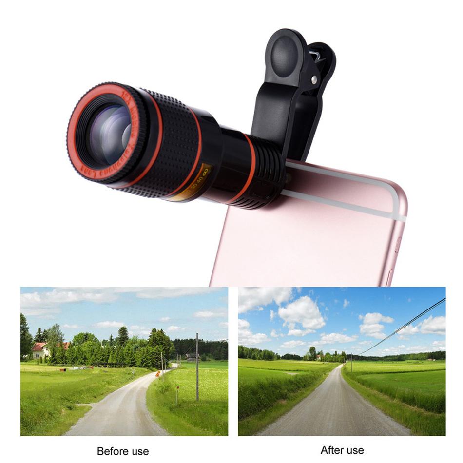 [해외]휴대 전화 렌튼 키트 12x 줌 렌즈 망원 텔레 스코프 클립 카메라 렌즈 아이폰 5 5C 5S SE 6S 7 플러스 전화 사기꾼/Mobile Phone Lentes Kit 12x Zoom Lens Telephoto TelescopeClips Camera Lens