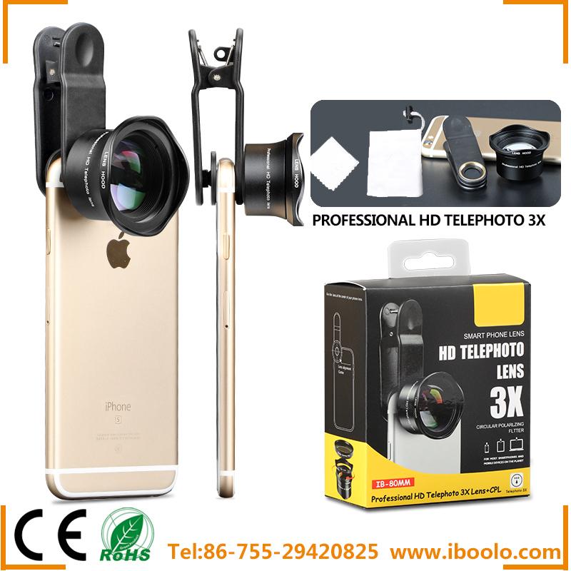 [해외]?Optic Pro IB-80MM 카메라 렌즈, 80mm 3X HD 망원 렌즈 전문가 용 LensCPL 조정 렌즈/ Optic Pro IB-80MM camera Lens, 80mm 3X HD Telephoto Lens Professional LensCPL Fit