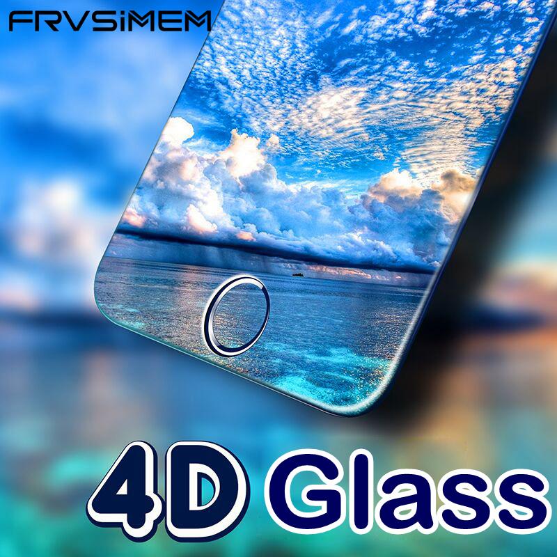 [해외]FRVSIMEM 4D 곡선 가장자리 강화 유리 아이폰 6 6s 7 8 플러스 3D + 전체 커버 보호 필름을전체 커버리지 화면 보호기/FRVSIMEM 4D Curved Edge Tempered Glass Full Coverage Screen Protector F