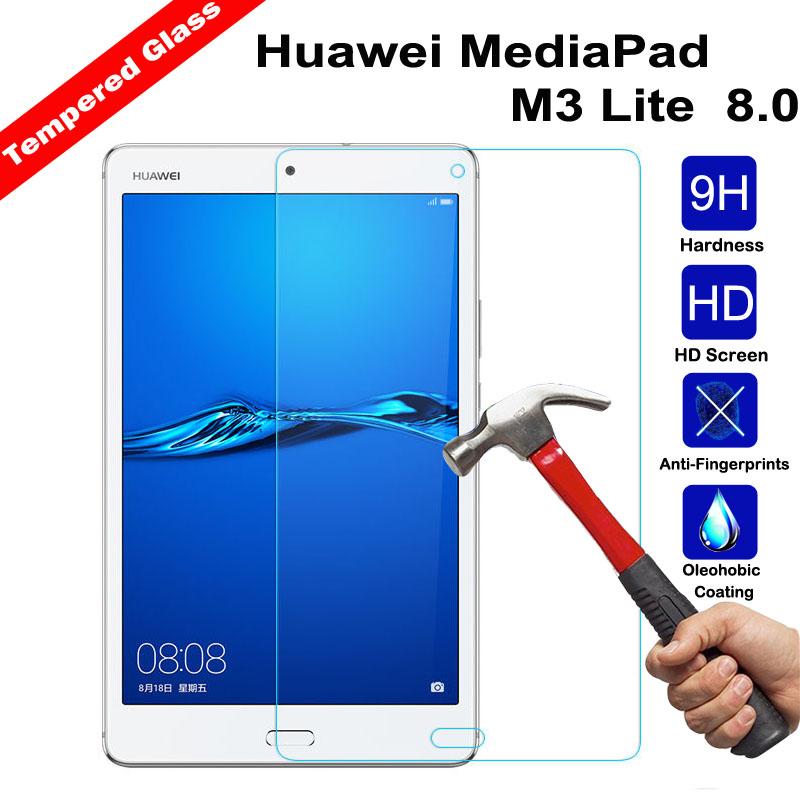 [해외]XSKEMP 9H 경도 강화 유리 화면 보호기 8.0 화웨이 MediaPad M3 Lite 태블릿 PC Anti-scratch Protective Film Guard/XSKEMP 9H Hardness Tempered Glass Screen Protector Fo