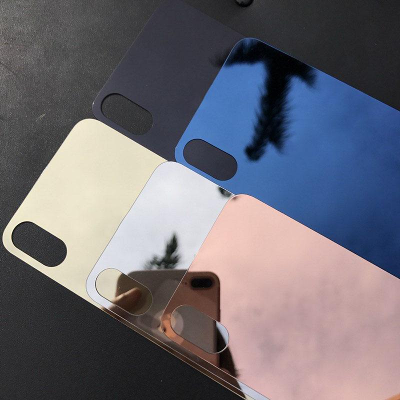 [해외]아이폰 6Plus 6SPlus에 대 한 새 프런트 + 다시 다채로운 도금 강화 유리 스크린 가드 필름 거울 효과 스크린 프로텍터 커버/New Front+Back Colorful Plating Tempered Glass Screen Guard Film Mirror