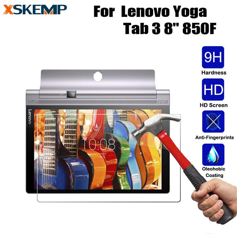 [해외]XSKEMP 9H 실제 폭발 증명 0.3mm 프리미엄 강화 유리 레노버 요가 탭 3 8 & 850F 인치 화면 보호기 보호 필름/XSKEMP 9H Real Explosion Proof 0.3mm Premium Tempered Glass For Lenovo