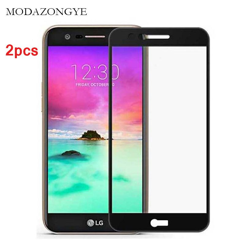 [해외]단련 된 유리에 대 한 2pcs LG K10 2017 화면 보호기 LG K10 2017 M250 M250N 스크린 보호기 유리 전체 커버 보호 플림/2pcs For Tempered Glass LG K10 2017 Screen Protector LG K10 201