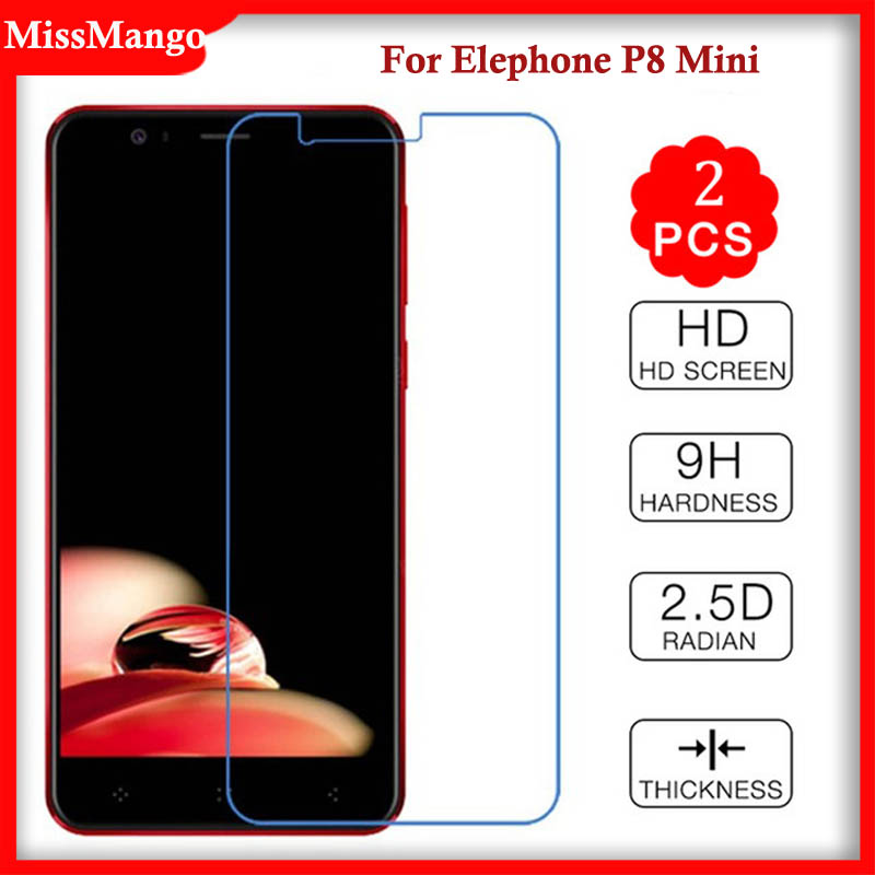 [해외]Elephone P8에 대 한 2PCS 강화 유리 Elephone P8 P 8 미니에 대 한 미니 보호 필름 P8 미니에 대 한 미니 P8Mini 9H 화면 보호기 프리미엄/2PCS Tempered Glass For Elephone P8 Mini Protecti