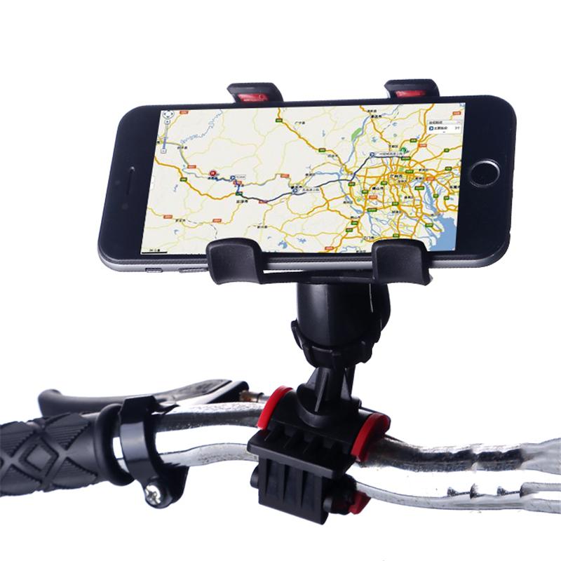 [해외]범용 360도 회전 자전거 자전거 자전거 전화 홀더 핸들 막대 클립 핸드폰 브래킷 마운트 GPS를 아이폰에 대한/Universal 360 Degrees Rotating Motorcycle Bicycle Bike Phone Holder Handlebar Clip
