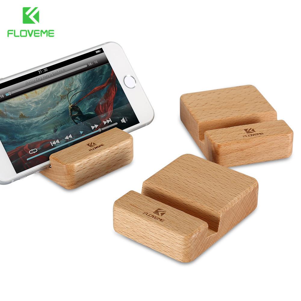 [해외]FLOVEME 너도밤 나무 목재 스탠드 홀더 아이폰 6 6s 7 플러스 휴대 전화 스탠드 유니버설 나무 스탠드 홀더 아이폰 6s 들어/FLOVEME Beech Wood Phone Stand Holder For iPhone 6 6s 7 Plus Mobile Pho