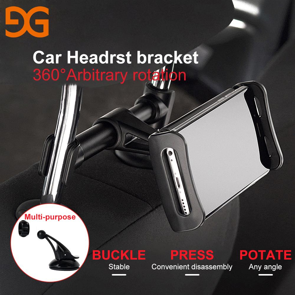 [해외]GUSGU 자동차 헤드 레스트 브라켓 360도 회전 전화 홀더 조정 가능한 유니버셜 뒷좌석 스탠드 휴대 전화 iPad 타블렛/GUSGU Car Headrest Bracket 360 Degree Rotation Phone Holder Adjustable Unive