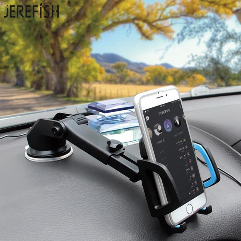 [해외]JEREFISH 롱 넥 암 차량 휴대 전화 홀더 유니버셜 핸드폰 홀더 용 스탠드 크래들 도크 윈드 실드 360 회전 대시 보드/JEREFISH Long Neck Arm Car Mobile Phone Holder Stand Cradle Dock for Univer