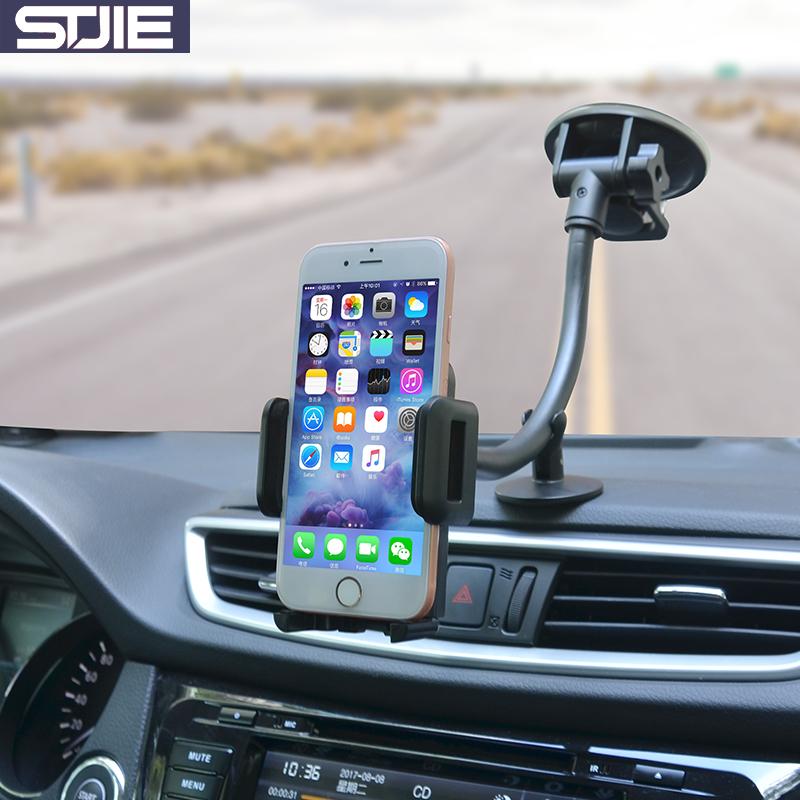 [해외]STJIE 보편적 인 자동차 전화 홀더 스마트 폰 핸드폰 아이폰에 대한 긴 팔 자동차 앞 유리 스탠드/STJIE universal car phone holder long arm car windshield phone stand for smartphone cellp