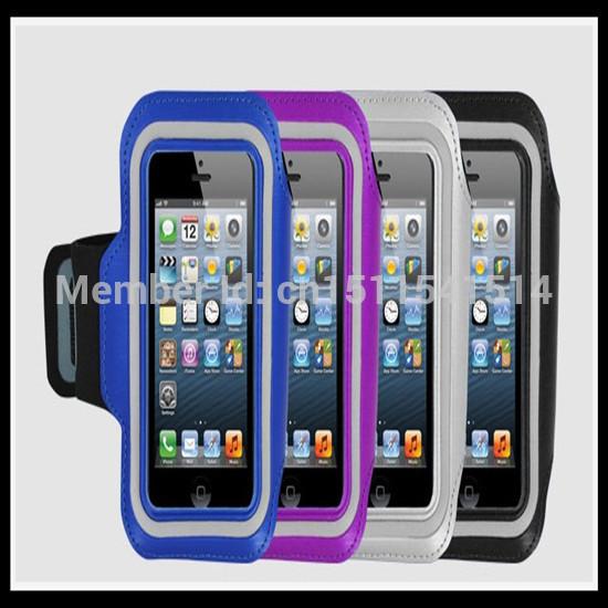 [해외]?도매 50PCS / 많은 다채로운 팔 밴드 Solf 벨트 스포츠 완장 아이폰 5 용 / 5 초 빠른 배송/ Wholesale 50pcs/lot Colorful Arm Band Solf Belt Sport Armband For iPhone5/5s fast SHI