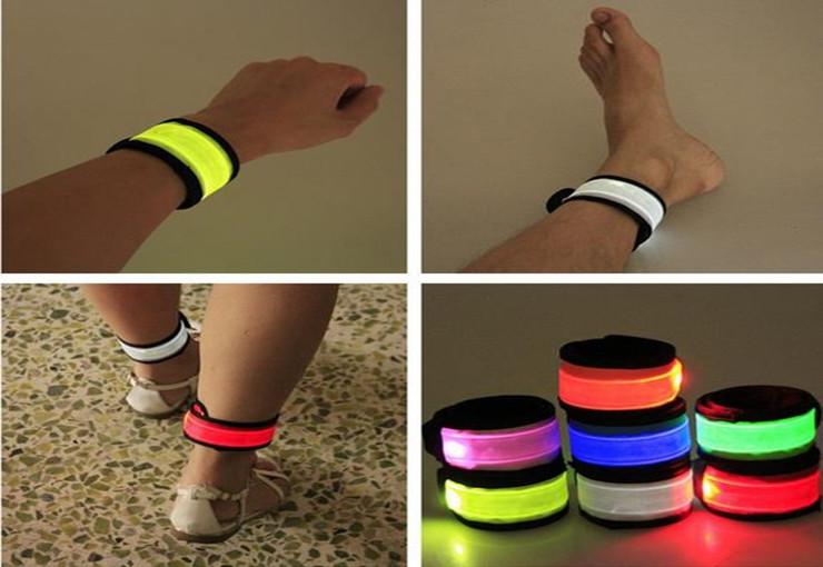 [해외]500PCS / 많은 나일론 LED 스포츠 손목 스트랩, LED 팔찌 라이트 플래시 팔찌, 글로우 완장 플레어 스트랩/500pcs/lot Nylon LED Sports Wrist Strap, LED Wristband Light Flash Bracelet, Glo