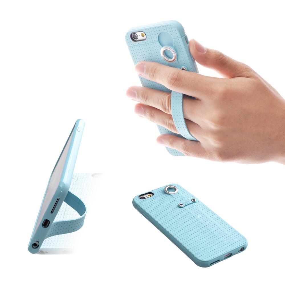 [해외]TFY 소프트 케이스 CoverHand 스트랩 홀더 스탠드 아이폰 6 / 6S & 아이폰 6 / 6S 플러스/TFY Soft Case CoverHand Strap Holder Stand for iPhone 6 / 6S &iPhone 6 / 6S p