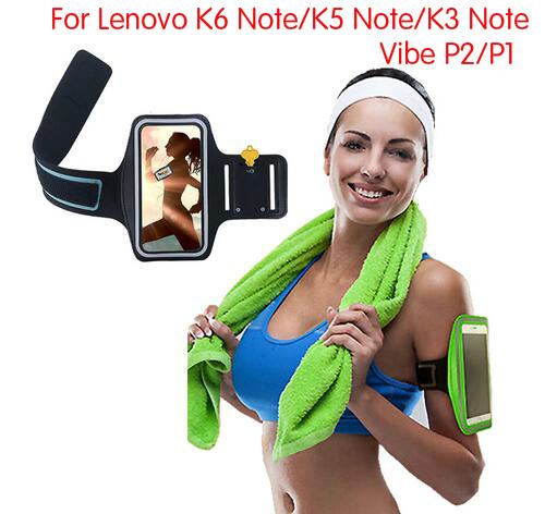 [해외]방수 스포츠 암 밴드 케이스 레노버 바이브 P2 P1을 실행 운동 체육관 케이스 커버 파우치 레노 버 K6 참고 K5 참고 스포츠 케이스/Waterproof Sport Arm Band Case For Lenovo Vibe P2 P1 Running Workout