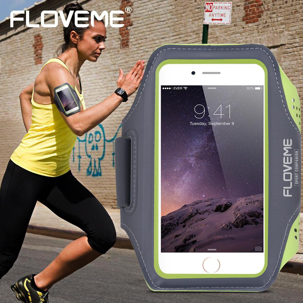 [해외]FLOVEME 유니버셜 5.5 인치 스포츠 완장 케이스, iPhone 6 6S 7 Plus 러닝 사이클링 Gym Storage Pouch 방수 조절 백/FLOVEME Universal 5.5 Inch Sport Armband Case For iPhone 6 6S