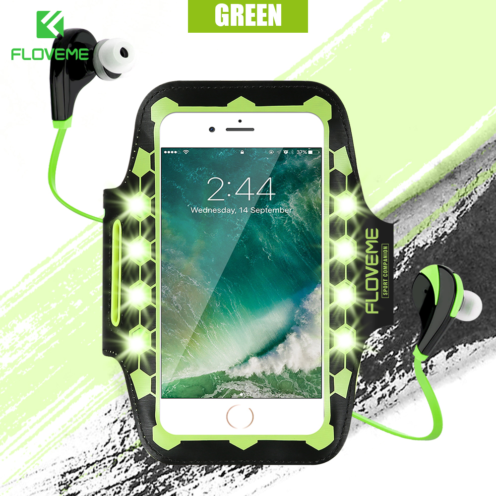 [해외]FLOVEME 4.7 & 유니버설 실행 Armband 아이폰 6 6s 7 LED 플래시 스포츠 전화 파우치 커버 암 밴드 핸드폰 액세서리/FLOVEME 4.7 && Universal Running Armband For iPhone 6 6s 7 LED Fl