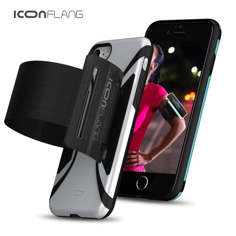 [해외]아이폰 7을ICONFLANG 스포츠 암 밴드 케이스 아이폰 7 CoverArm 밴드 백 쉘용 전화 케이스 실행/ICONFLANG Sport Arm band Case for iPhone 7 7 Plus Running Phone Cases for iPhone 7 C