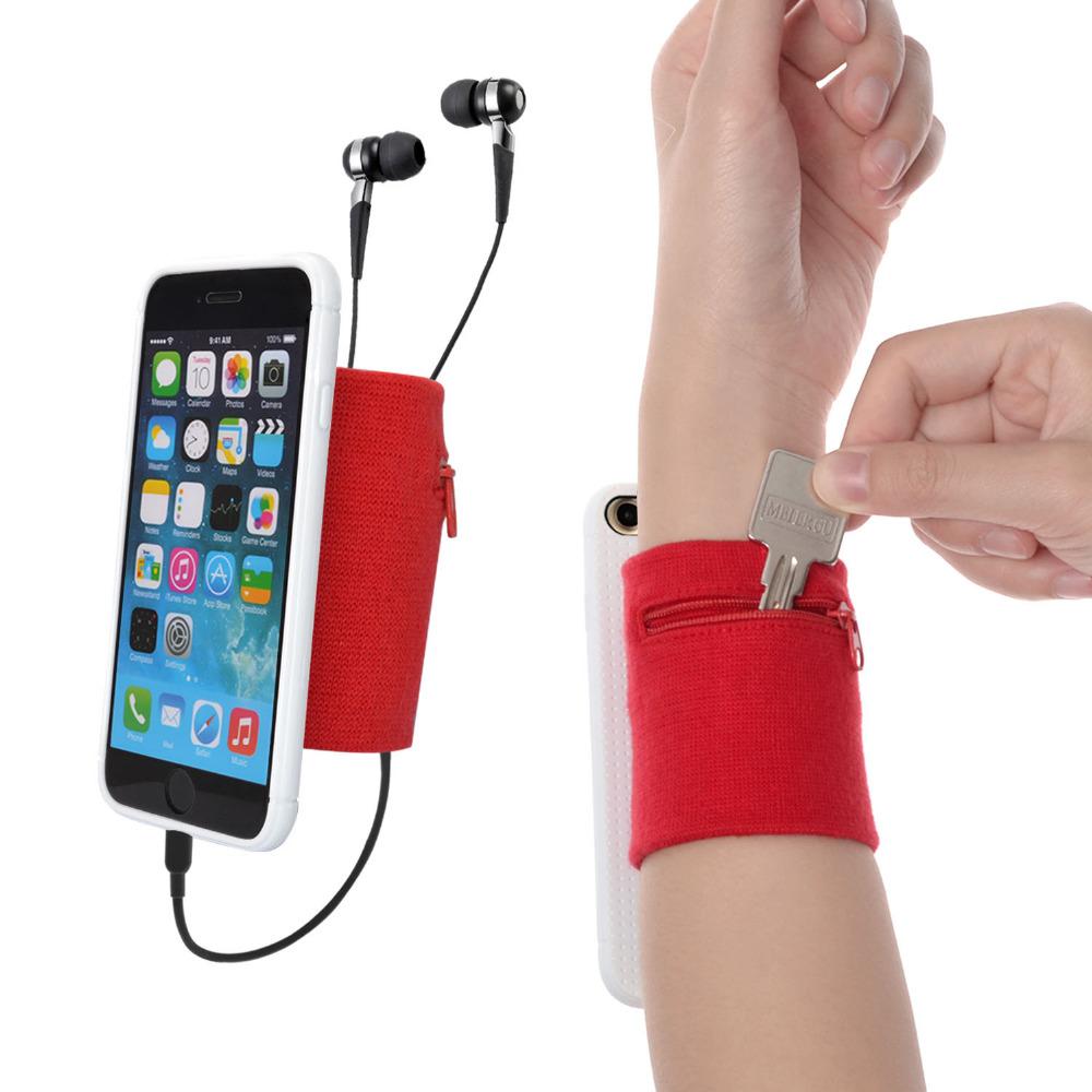 [해외]WANPOOL 스포츠 스웨트 밴드 팔뚝 밴드 팔뚝 반다 리틀 파우치 (지갑 및 열쇠 고리 용) 7, 레드 & amp; 화이트/WANPOOL Sport Sweatband Wristband Forearm Banda Little Pouch for Keys an