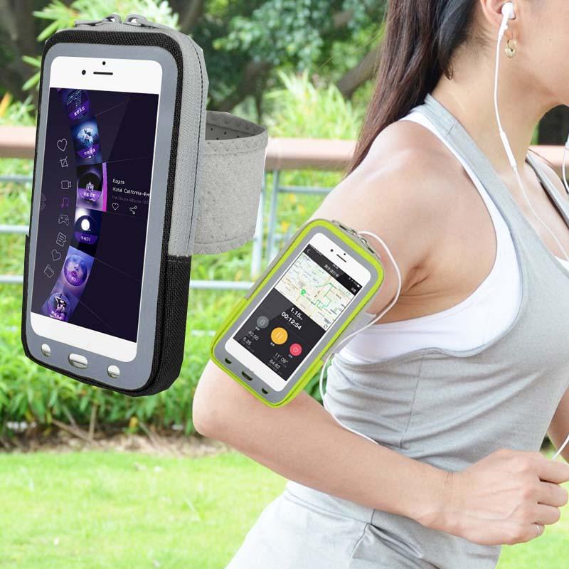 [해외]휴대 전화 스마트 폰 스포츠 체육관 완장 케이스 지퍼 피트니스 다기능 포켓 가방 파우치 방수 실행 커버/Sport Gym armband Case Zippered Fitness Multifunction pocket Bag Pouch Waterproof Runnin