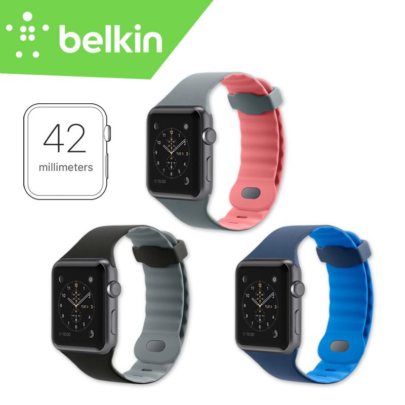[해외]42mm 새로운 Belkin 원래 스포츠 빛 유연한 통기성 실리콘 손 빨 스트랩 밴드 애플 WatchPackage F8W730에 대 한/42mm New Belkin Original Sport Light Flexible Breathable Silicone Hand
