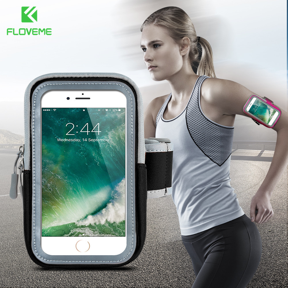 [해외]FLOVEME 스포츠 휴대 전화 완장 4.7-5.5 인치 헬스 핸드폰 완장 케이스 아이폰 6 다이빙 옷감 스마트 폰 가방/FLOVEME Sport Running Mobile Phone Armband 4.7-5.5 inch Fitness Cell Phone Arm