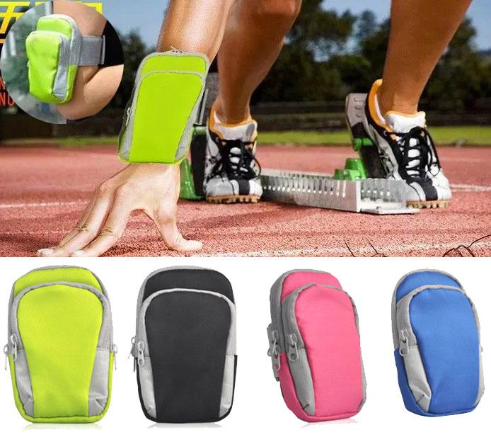 [해외]실외 스포츠 실행 팔 가방 손목 주머니 운동 조깅 체육관 가변 다기능 전화 완장 4.0-5.5 & 스마트 폰/Outdoor Sport Running Arm Bag Wrist Pouch Exercise Jogging Gym Adjustable Multifu