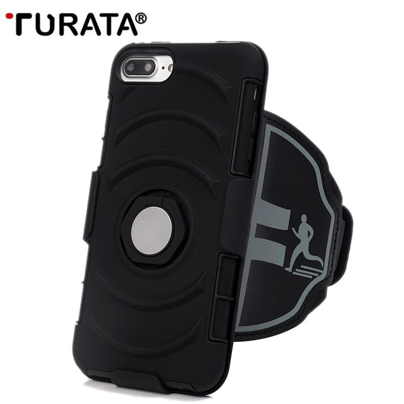 [해외]Turata 3 1 완장 + 전화 케이스 + 전화 홀더, 아이폰 7 / 7 플러스 커버 T30을방수 스포츠 팔 밴드 휴대 전화 홀더를 실행/Turata 3 in 1 Armband + Phone Case + Phone Holder,Waterproof Sports