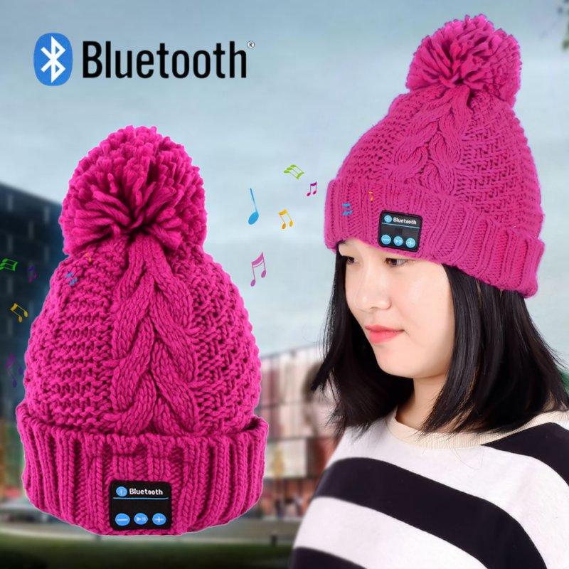 [해외]여성 따뜻한 비니 모자 무선 블루투스 스마트 캡 헤드폰 헤드셋 스피커 마이크 A57/Women Warm Beanie Hat Wireless Bluetooth Smart Cap Headphone Headset Speaker Mic A57