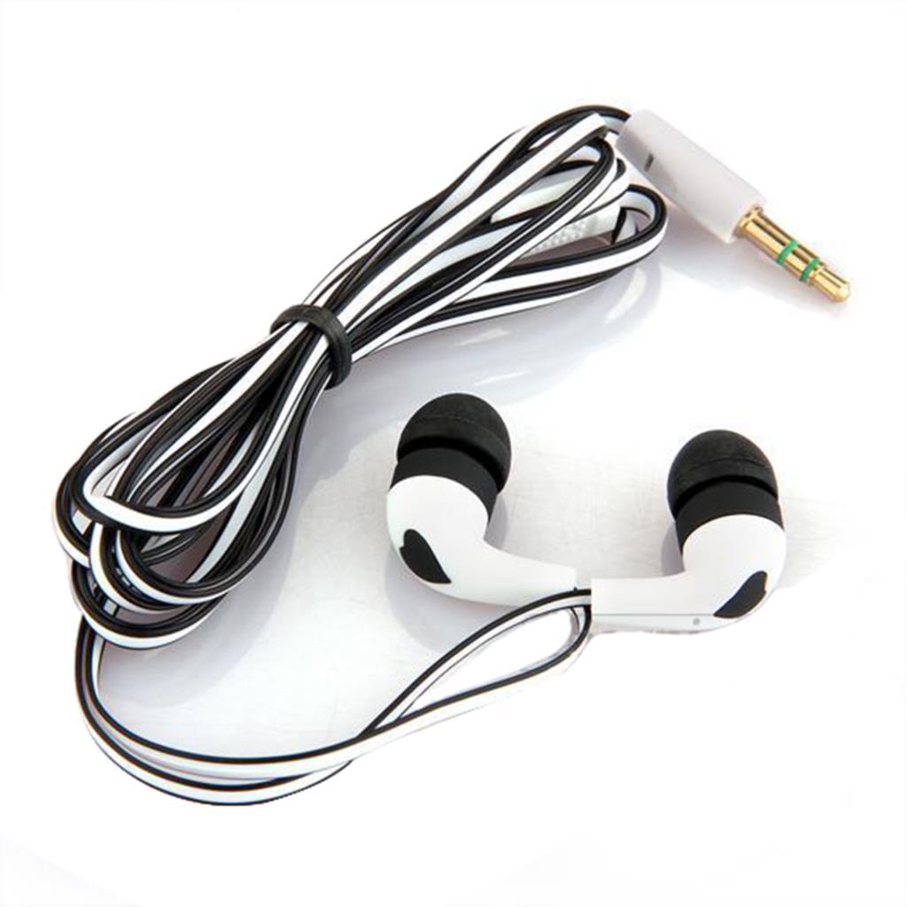 [해외]2015 새로운 패션 3.5mm의 스테레오 이어폰 아이폰 5 5S 4 화이트 + 블랙 용 이어 버드 헤드폰 이어폰 헤드셋/2015 New Fashion 3.5mm Stereo In-ear Earbud Headphones Earphone Headset for iP