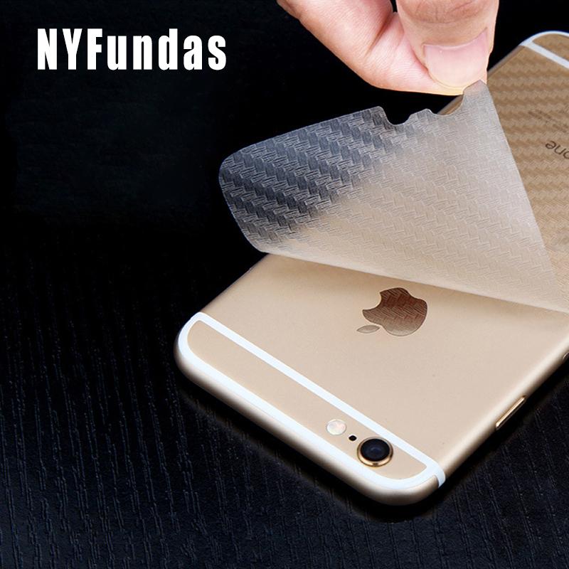 [해외]NYFundas 10PCS 다시 탄소 섬유 필름 휴대 전화 스티커 애플 아이폰 7 플러스 6 S 5S 5 5S iPhone5 Pegatinas 액세서리/NYFundas 10PCS Back Carbon Fibre Film Mobile Phone Stickers f