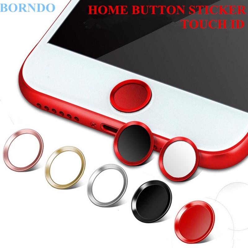 [해외]5PCS 터치 ID 알루미늄 홈 버튼 스티커 아이폰 7 7Plus 6 지문 지원 6S 6Plus 5S SE 5 5C + 포장/5PCS Touch ID Aluminum Home Button Stickers Fingerprint Support For iPhone 7