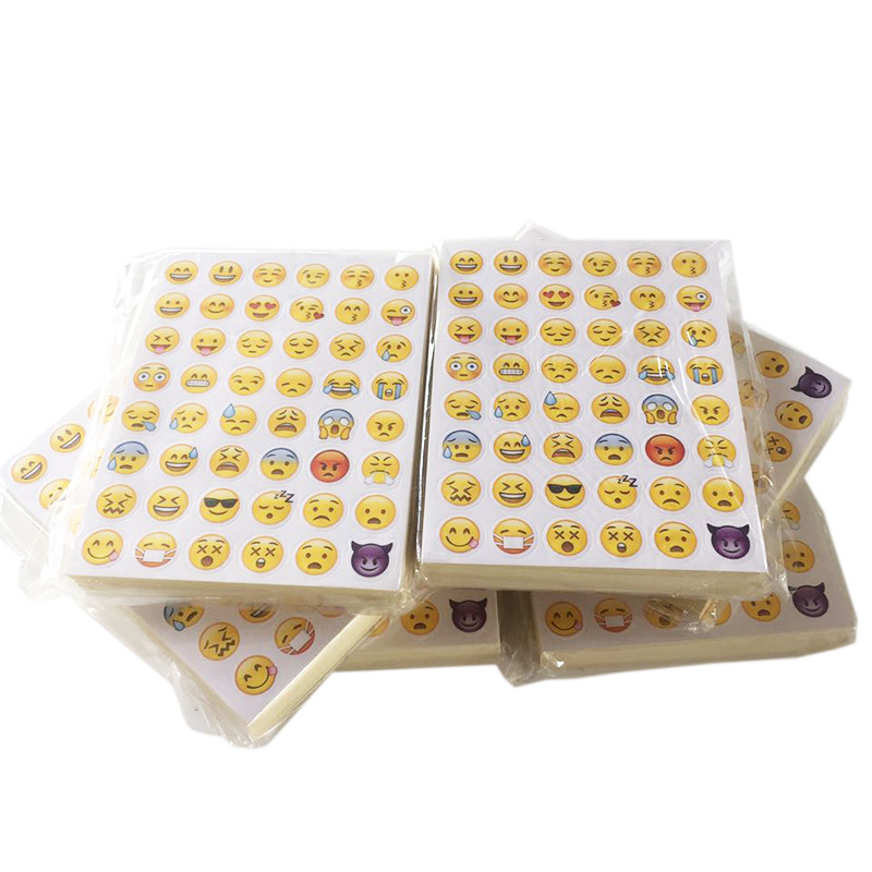 [해외]100 매 48 스티커 스티커 48 다른 이모티콘 미소 얼굴 스티커 노트북 전화 재미 메시지 Twitter LargeHot 인기/100 Sheets 48 Stickers Sticker 48 Different Emoji Smile Face Stickers For