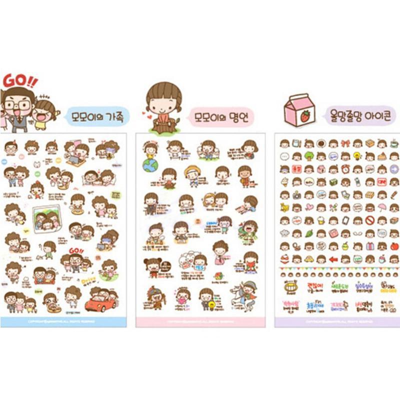 [해외]귀여운 20 시트 / 팩 소녀 만화 스티커 비닐 스티커 크리 에이 티브 장난감 어린이키즈 스티커 노트북 / 전화/Cute 20 Sheets/Pack Girl Cartoon Stickers Vinyl Sticker Creative Toys For Children