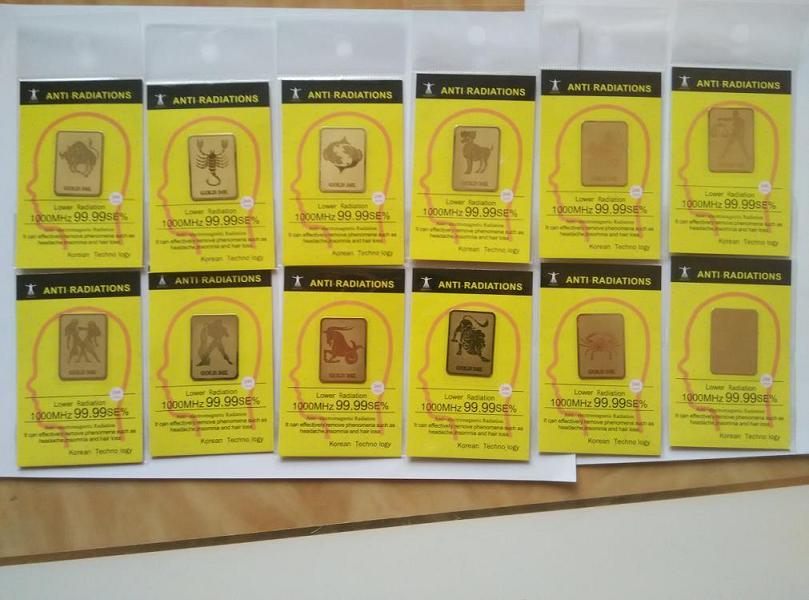 [해외]600pcs 12 궁도 반대로 방사선 스티커 및 200pcs radisafe/600pcs zodiac anti radiation sticker and 200pcs radisafe